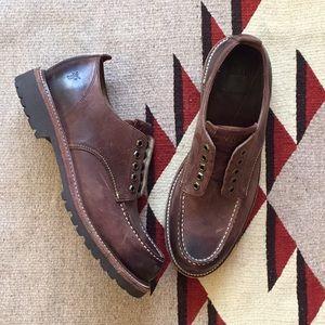 Frye Dakota Oxford Dark Brown pullon leather shoes